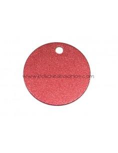 Medalla de Aluminio 30mm Rojo