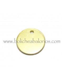 Lentejuela de laton baño oro 14mm