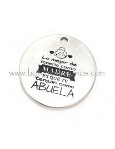 Medalla con grabado Abuela