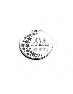 Medalla de 22 mm con grabado sueños