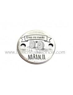 Medalla de 22 mm con grabado Media Naranja