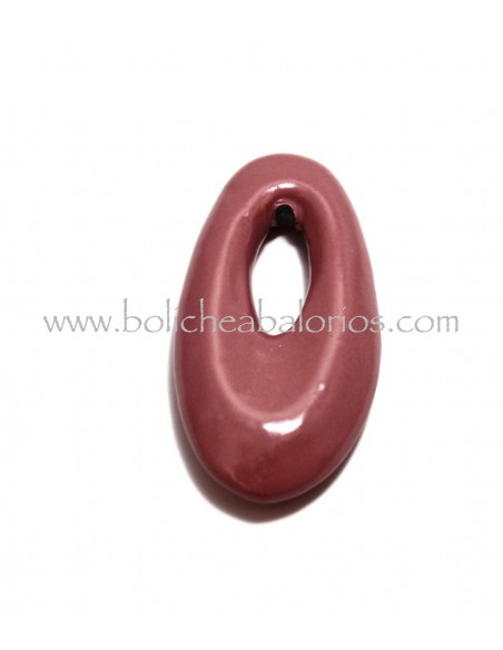 Colgante Ovalado Unicolor de Ceramica
