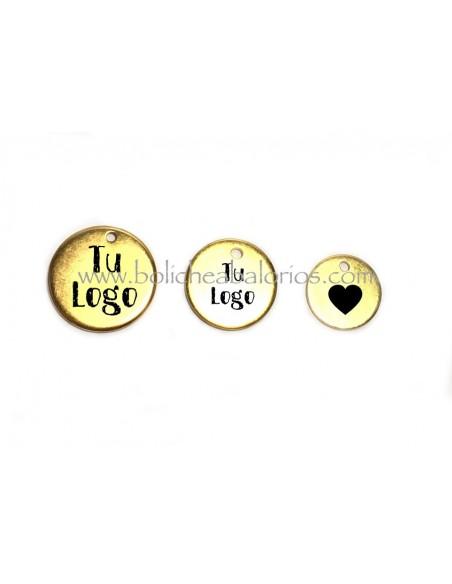 Medallas Grabadas con Logo de Latón Dorado con descuentos por cantidad