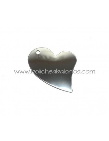 Colgante Corazón Irregular 40mm de Acero