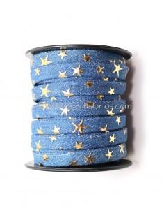 Cinta Tela Jean con Estrellas 10mm