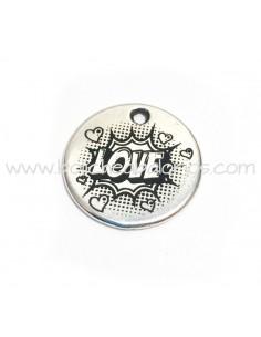 Moneda LOVE 21mm Zamak