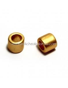 Cuenta Bola 6mm Metal Oro Mate