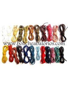 Cordón de Cuero Redondo de 2mm