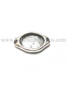 Entrepieza 2 anillas para resina 28x18 mm