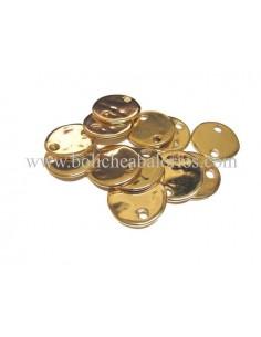 Moneda Conector Oro 25mm para Grabar Zamak