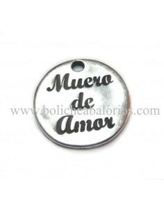 """Moneda """"Muero de Amor"""" 20mm Zamak"""