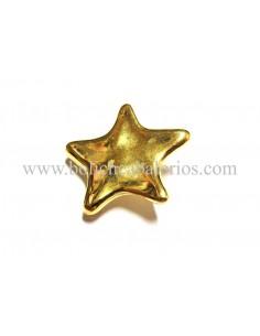 Pin de estrella en baño oro para brazalete