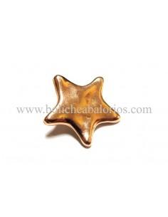 Pin estrella baño oro rosa para brazalete