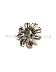 Pin flor baño plata para brazalete