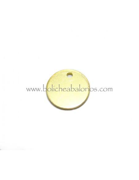 Moneda de Latón de 10mm Dorada