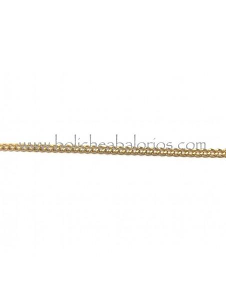 Cadena plana de 4mm de eslabon oro mate