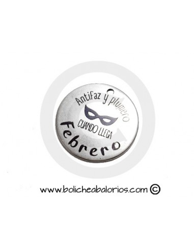 "Moneda ""Antifaz y Plumero"" 34mm Zamak"