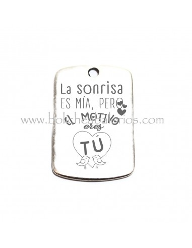 Placa Llavero Amor 49mm Zamak