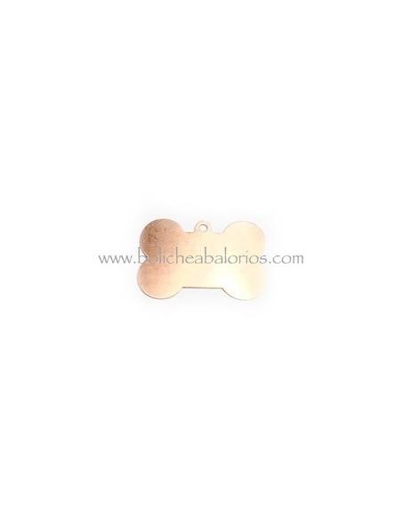 Colgante Hueso Identificacion Perro Cobre Aluminio