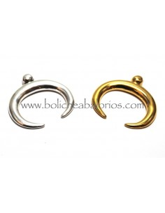 Colgante Doble Cuerno de Zamak 32mm