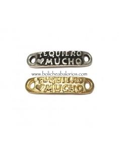 """Conector """"Te Quiero Mucho"""" 29mm Zamak"""