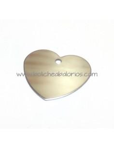 Colgante Corazón 30mm Acero