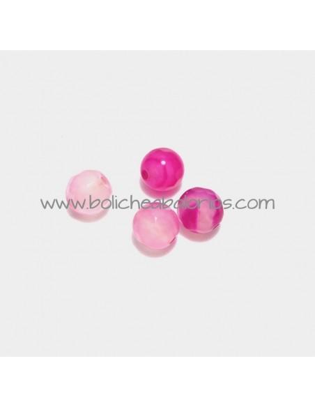 Bola agata rosa 6 mm