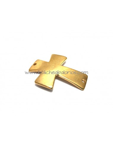 Conector Cruz Curvada 28x45mm Oro Mate