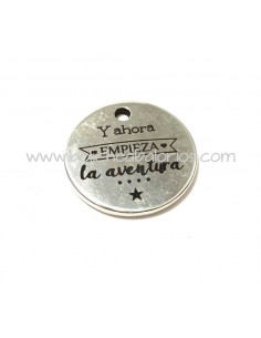 Moneda Aventura 21mm Zamak