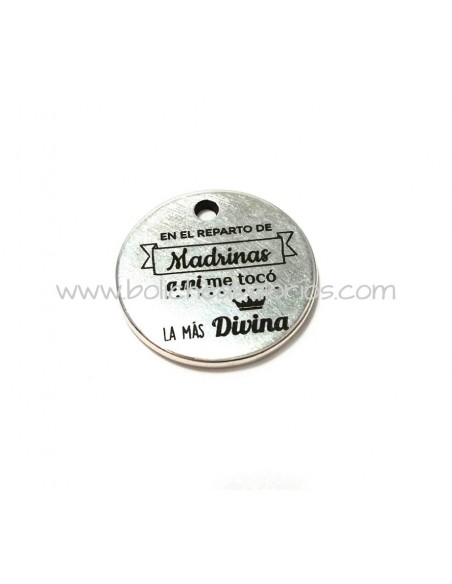 Moneda Madrina Divina 21mm Zamak