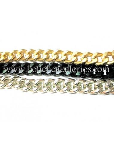Cadena Eslabon Plano 16mm Aluminio