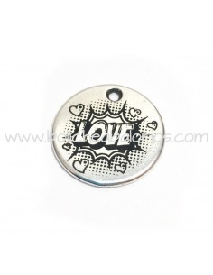 Moneda LOVE 21mm Zamak