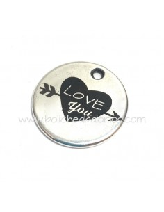 Moneda LOVE YOU  21mm Zamak