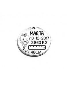 Medalla Natalicio 30mm