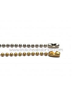 Cadena Bolas 2.5mm Latón con Baños