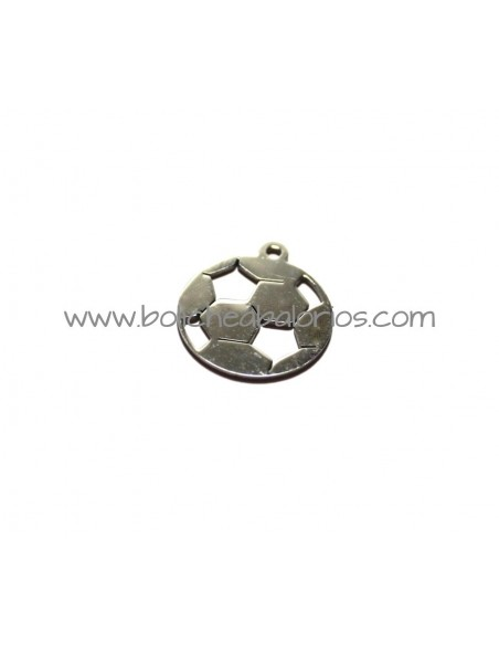 Colgante Balon 19mm Futbol Acero Inoxidable