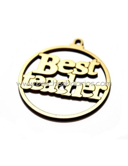 """Medallon Madera """"Best Teacher"""""""