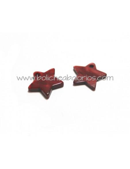 Colgante Estrella 12mm Acrilico Nacarado