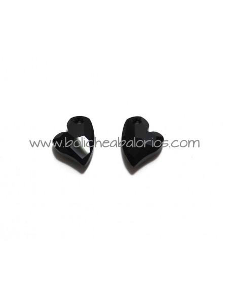 Colgante Corazón 17mm Negro de Swarovski