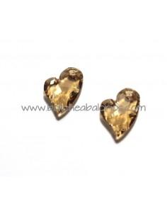 Colgante Corazón 17mm Beige de Swarovski
