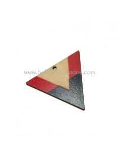 Colgante Triangulo 50x42mm Madera