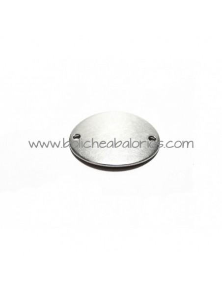 Conector Ovalado 22mm Acero Inoxidable para Grabar