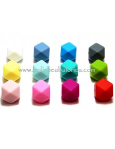 Hexagono 14mm de Silicona Chupetero