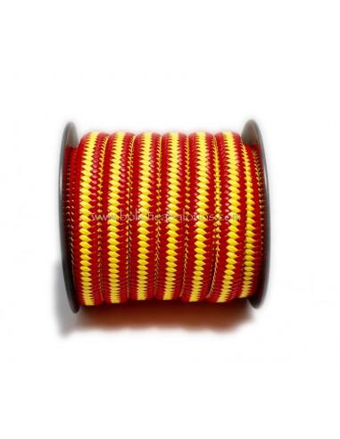 c2eb587504e4 Cuero Plano con Trenzado colores Bandera de España