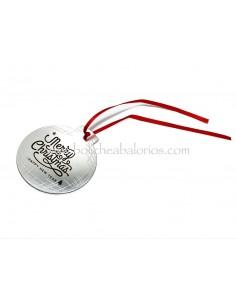 Colgante Bola de Navidad Aluminio 7cm