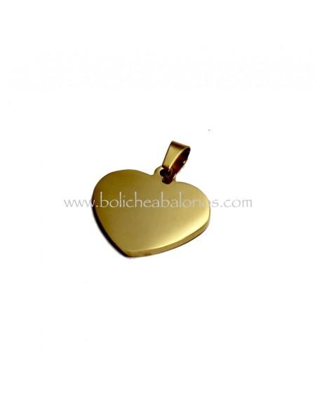 Colgante Corazón 24mm de Acero Inoxidable