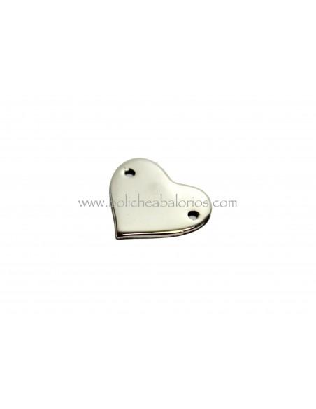 Conector Corazón 12mm Plata de Ley