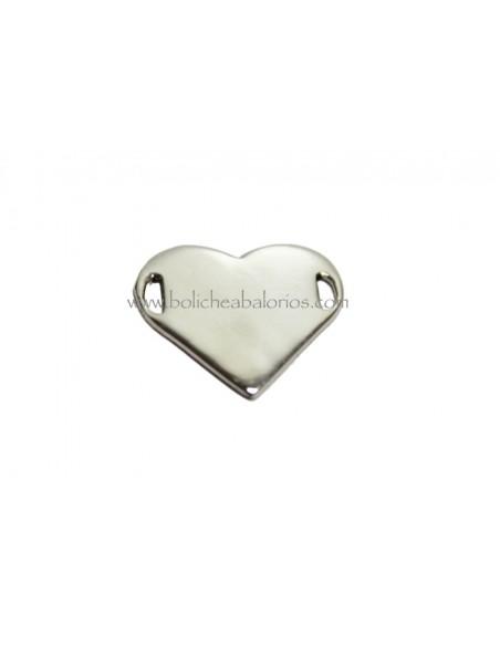 Conector Corazón 20mm Plata de Ley