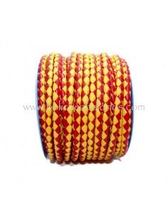 Cordón de cuero trenzado 5mm