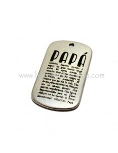 Placa grabada definicion PAPÁ